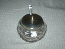 More details for d & h epns & cut glass jam/preserves pot with matching epns spoon 10 cm x 11 cm