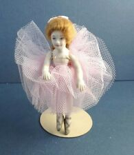 Dollhouse Miniature Vintage Handcrafted Porcelain Pink Ballerina Doll 1:12 scale