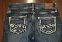 16036 Womens BKE Buckle Sabrina Distressed Boot Cut Denim Jeans Sz 27 x 33