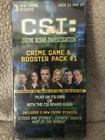 SEALED CSI Crime Scene Investigation crime game & booster pack #1
