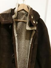 Ego Exclusive  Clothes Sheepskin Men's  Jacket  With Hood  Size L Excellent cond
