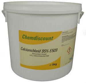 5kg Calciumchlorid CaCl2 (95-98%) wasserfrei Lebensmittelqualität E509 Granulat