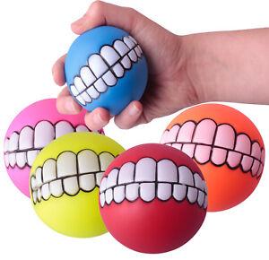 Hundespielball Wurfball Hunde Action Ball Hundespielzeug Quietscher Mund Lachen