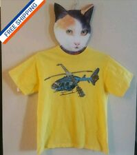 Boy's XL (14-16) JEM® Yellow GUITAR HELICOPTER Short Sleeve Cool T-SHIRT