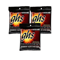 3-Pack GHS Electric Boomers GBL Light Guitar Strings (10-46)