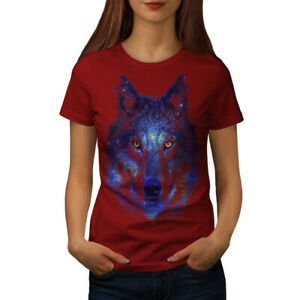 Wellcoda Forest Wolf Pixel Life Womens T-shirt, Movie Casual Design Printed Tee