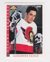 1993-94 Score Canadian #496 Alexandre Daigle Ottawa Senators Hockey Card