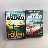 2 David Baldacci Paperback Books bundle The Fallen & Long Road to Mercy