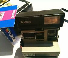 Vintage Polaroid sun 600 LMS Camera w/ Strap & box * Untested *