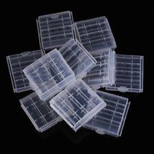 10xboitier de pile Boite de rangement plastique pour votre rechange de pile A3M6