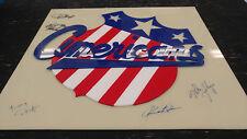 "Rochester Americans Amerks 18.5""x20"" Signed Display Malarchuk Myre Foligno + COA"