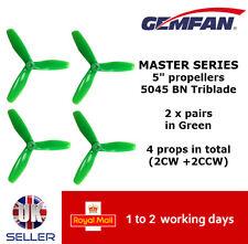 "Gemfan Master Series Quad Props 5"" 5045 BN 3 Blade Green UK Bullnose FPV Racing"
