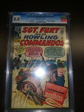 Sgt Fury and His Howling Commandos 3 Marvel CGC 8.0 avengers 1 ad! Low census
