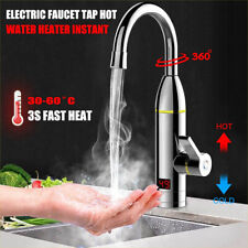 360° Instant Electric Faucet Tap Hot Water Heater LED Heating Bathroom Kitchen