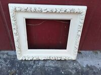 Vintage wood Antique Art Deco Flowers Carved Picture Frame