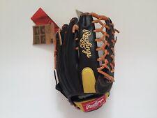"Rawlings Gamer Baseball Glove TRAP-EZE GR5G8 12.5"" Black Lime Outfielders"