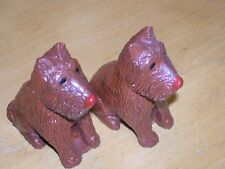 Pair Vintage Scotty Scottie Scottish Terrier Dogs Salt Pepper Shakers Figurines