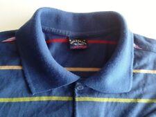Paul Shark Yachting Polo-Shirt Herren Kurzarm Blau Gestreift Baumwolle Gr. M