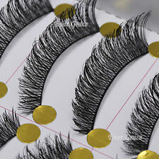 Pro 10 Pairs Makeup Beauty False Eyelashes Eye Lashes Extension Long Thick Cross