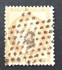 Timbre France, n°59, 15c bistre, Obl etoile 5 variété, TB.