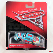 Disney Pixar Cars 3 - Ponchy Wipeout #90 Bumper Save racer - Mattel diecast car