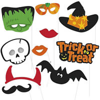 10pcs Halloween Party Props Photo Booth Party Decoration Selfie Photography Kit