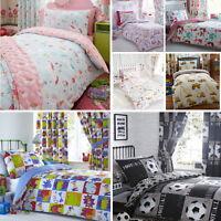 Children's Kids Girls Boys Cotton Blend Reversible Duvet Cover Quilt Bedding Set