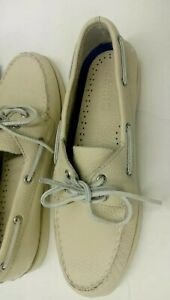 Sperry Top-Sider Women's A/O 2-Eye Boat Shoe,Color Ice (off White) New 8.5W