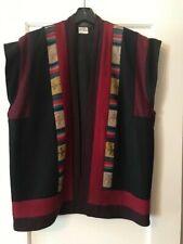 Vintage Nepalese 100% wool sleeveless jacket.  1980's.  Handmade.