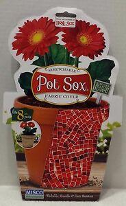 "NEW Stretchable Pot Sox Fabric Cover Fits 8"" Pots"