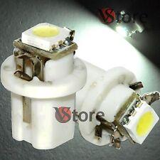 2 LED T5 B8,5D SMD B8 5D Quadro Strumenti BIANCO Cruscotto Lampade Luci