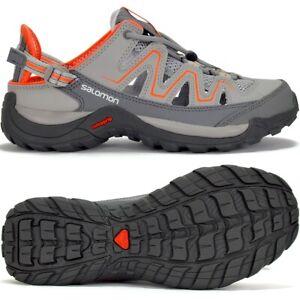 Salomon Ladies Hiking Shoes Outdoor Sandals Trekking Slippers Running Grey