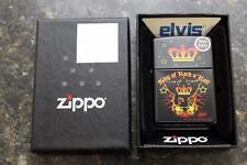 Zippo 21064 Elvis Presley King of Rock & Roll Black Windproof Lighter WARRANTY