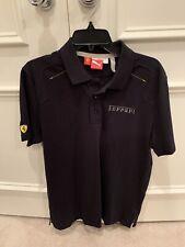 PUMA Ferrari Short Sleeve Polo Black Men's Size Medium