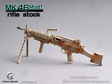 CRAZY DUMMY 1/6 MK46 MOD1 Gen2 Para Stock - Black for Action Figure #CD-75002-4