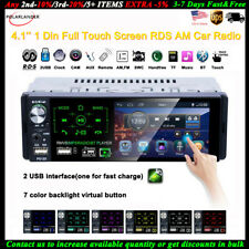 4''1 Din Car Radio Full Touch Screen 2USB RDS FM MP5 Player Stereo AM Bluetooth