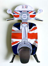 Scooter Fridge Magnet, Union Jack Mod Scooter Fridge Magnet, LI TV SX GP Scooter