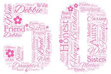 Personalised 1st 18th 21st 30th 40th 50th 60th 70th Birthday Word Art Print