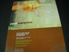 Janet Jackson head floating in water Everytime 1998 Promo Poster Ad mint cond