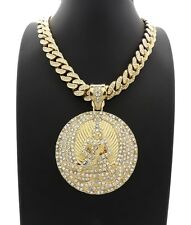 """NEW 2PAC EUPHANASIA PENDANT WITH ICED 24"""" MIAMI CUBAN CHAIN"""