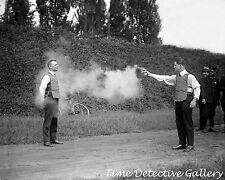 A Bullet Proof Vest Test - 1923 - Historic Photo Print