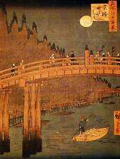 UTAGAWA HIROSHIGE JAPANESE POSTER KYOBASHI BRIDGE 1858 OLD ART PRINT 2706OM