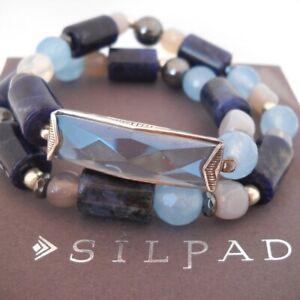 Silpada B3389 Blue Montana Stretch Bracelet GEORGOUS