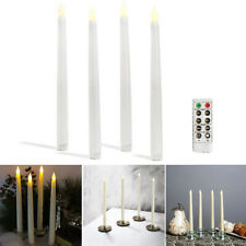 LED Battery Flameless Taper Candles Light Dinner Wedding Home Party Ornament New