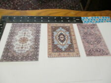 Dollhouse Miniature area rugs for 1:12 scale in purple