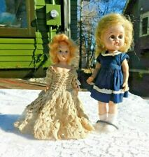 Vintage 1950'S Knickerbocker Hard Plastic Doll And Friend