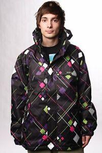 Quicksilver 'Molly Pink' Multicolor Snowboard Jacket Skiwear XXL 5000MM