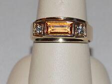10K gold band with a Citirine Gemstone(November birthstone) and diamonds
