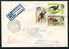 BELIZE: (19501) Toucan/bird/coral reg. label cover