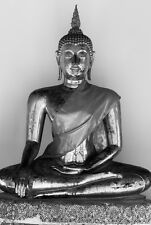 SUPERBE ANCIENNE STATUE DE BOUDDHA toile photo #11 spirituel Asian Wall Art